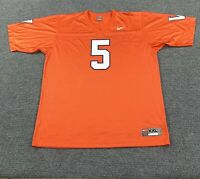 Nike Team XXL University Of Virginia Cavaliers UVA Orange Football Jersey #5