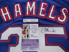 Cole Hamels signed Texas Rangers blue sewn on jersey JSA COA Phillies