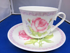 *Sale* Lilac Rose , China Breakfast Cup Saucer, Made In England By Roy Kirkham