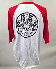 Obey Men's Baseball T-Shirt The Eternal White/Red Size XXL NEW Demon Goat