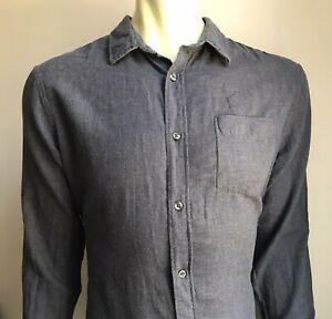 VINCE Shirt, Cozy Gray / Burgundy, Large, Excellent Condition