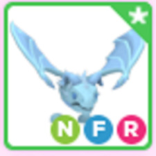 Neon Fly Ride NFR Frost Dragon Roblox Adopt me