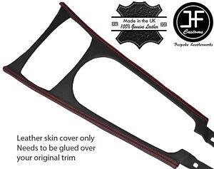 RED STITCH CENTRE CONSOLE TRIM LEATHER COVER FOR BMW Z4 E85 03-11 DESIGN 2