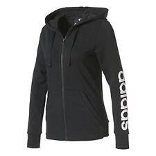 Veste À capuche Femme Adidas Essentials Linear XL Noir/blanc
