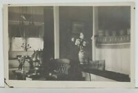 RPPC Interior View of Home Office or Room Early c1900s Postcard N17