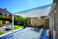 Alu-Terrassenüberdachung  5x4 Meter  VSG - Glas 8 mm klar    Terrassendach