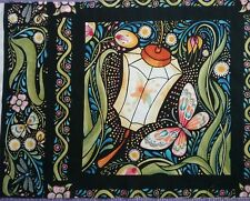 Julie Paschkis Fabric Luminaria Butterfly Lantern Panel block  15 x 11.5 inches