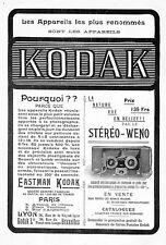 """KODAK """" LE STEREO WENO """" PUBLICITE 1901"""