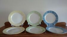 Lynns Stoneware Dinner Plates, 10 3/4 Inches, Unknown Pattern