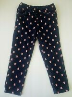 Carters Toddler Girl Jeans Jeggings Size 4T Navy Blue Pink Owls