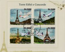 Air France & British Airways (BA) CONCORDE (Eiffel Tower) Aircraft Stamp Sheet