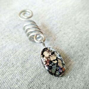 Aluminum silver dread bead, dreadlock bead, loc bead, hair jewelry for braids