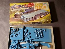 Vintage 1963 Aurora Hot Rod Show Trailer 1:32 Scale Plastic Model Kit Car Hauler