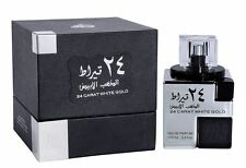 24 CARAT WHITE GOLD by Lattafa Spicy Aromatic Citrus Floral Woody 100ml EDP