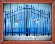 Driveway Entry Gate 11 Ft Wide Steel, Inc Post Package Home Residential Security