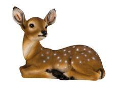 Rehkitz liegend ca. 27 cm x 34 cm Reh Kitz Wild Figur für Haus und Garten