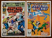 Lot of 2 Power Man and Iron Fist #73 & 77 VF/NM 9.0 Marvel Frank Miller Cover