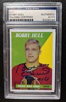 2002 ARCHIVES BOBBY HULL AUTOGRAPH CHICAGO BLACK HAWKS HOF PSA DNA CERTIFIED