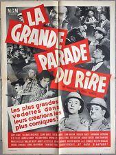 Affiche LA GRANDE PARADE DU RIRE Laurel & Hardy BUSTER KEATON Marx Brothers *