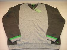 HUGO BOSS GREEN MEN'S SWEATER PULLOVER, SZ: L ,NEW WITH TAGS