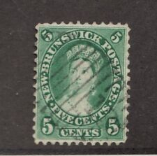 New Brunswick #8 Θ used, 5 cent Victorian postage stamp, mute cancel
