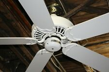 "Casablanca Delta II Classic White 50"" Ceiling Fan Great Condition New Bearings!"