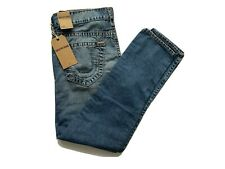 True Religion Dean Tapered Fit Jeans W34 L 32 NEW Mid wash