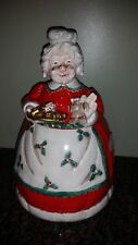 Fitz And Floyd Vintage Holiday Grandma Cookie Jar Japan Christmas