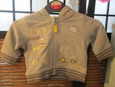 Babies Grey Jacket Lets Go Applique Design age upto 1 month (NEW)