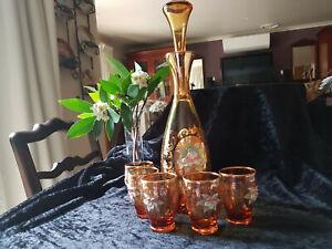 VINTAGE VENETIAN MURANO GLASS DECANTER SET - c.1960's