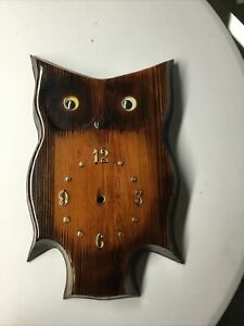 Wooden Owl Wall Clock
