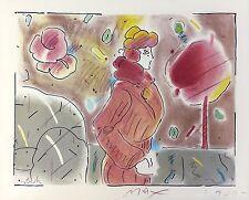 "PETER MAX ""IN HIS GARDEN"" 1980   EMBELLISHED STUDY EDITION   POP ART   GALLART"