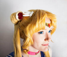 Sailor Moon Odango Bun Shields With Gold Trim