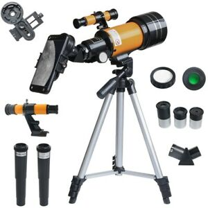 150X Refractive Astronomical Telescope with Phone Clip Night Vision Telescope