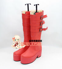 ONE PIECE Perona Anime Lolita Red Cosplay Shoes Boots X002