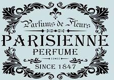 Vintage**Schablone** PARISIENNE **für Stoffe, Möbel,Torten,Wände ** Nr.: 52