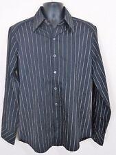 Men's 7 Diamonds L Poly/Spandex LS Black White Stripes                  L19