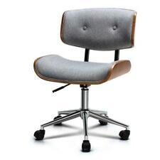 Artiss OCHAIR-BS-5435-GY Rufus Wooden Fabric Office Chair - Grey