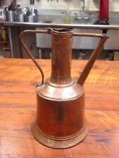 Vintage Mid Century Handmade Hammered Copper Israel Decorative Jug Water Pitcher
