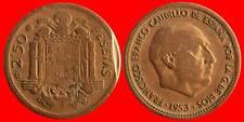 ERROR 2,5 PESETAS FRANCO 1953 ESPAÑA MBC FALTA DE COSPEL-3851