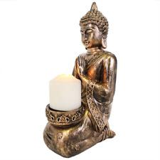 Large Kneeling Buddha Candle Holder Gold Effect 36cm X 13cm Postage