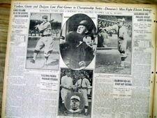 1916 newspaper WASHINGTON SENATORS Baseball photos WALTER JOHNSON Clark Griffith