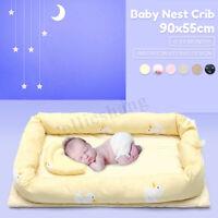 Newborn Cuddle Baby Cotton Nest Pod Bedding Travel Cot Crib Ultra Soft AU Gift