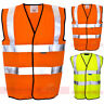 ST Yellow & Orange Hi Vis High Viz Visibility Vest EN471 Waistcoat Safety Mens