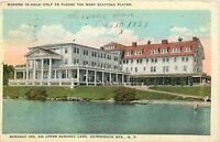 Saranac Inn Upper Saranac Lake Adirondack Mountains pm 1929 New York Postcard