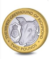 2021 Queen's Beasts £2 Coin Series The White Greyhound of Richmond