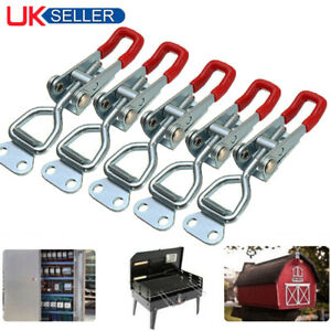 5/10x Latch Catch Stainless Steel Cabinet Boxes Handle Toggle Lock Clamp Hasp UK