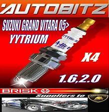 FITS SUZUKI VITARA 1.6 2.0 2005>BRISK SPARK PLUGS X4  YYTRIUM FAST DISPATCH