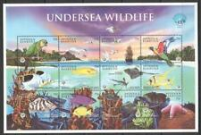 [AB] ANTIGUA & BARBUDA 1998 FISH AND UNDERSEA WILDLIFE.  SHEET OF 12 stamps.
