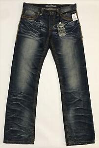 Affliction Black Premium Blake Men's Denim Blue Jeans Size 33x32